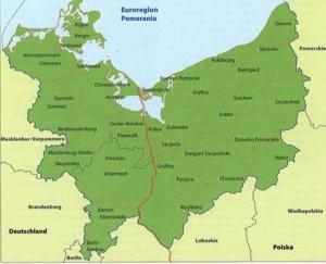 Pomeranijos regionas Lenkijoje ir Vokietijoje Šaltinis: www.alchetron.com