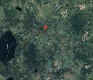 The place on Lithuania-Belarus border where Aquatic Warbler was found.